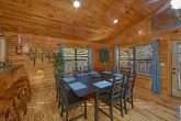 Cabin with family size dining table