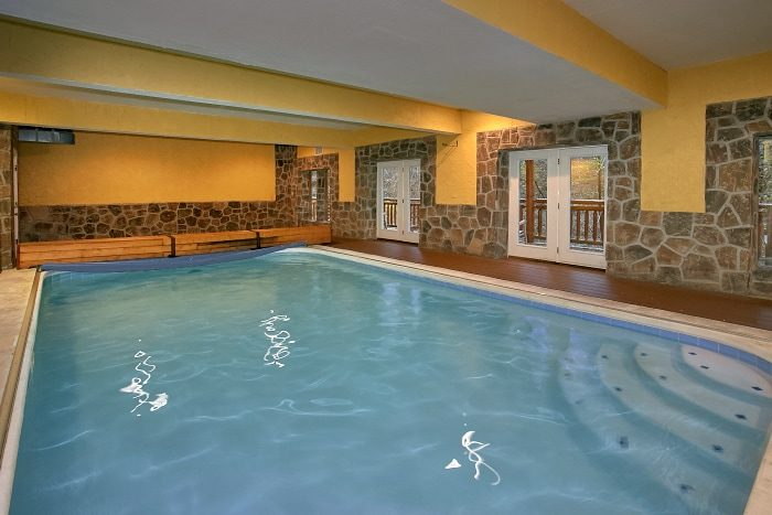 Indoor Pool Lodge Cabin Rental Photo