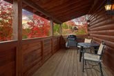 Pigeon Forge Cabin with a Gas Grill on the Deck