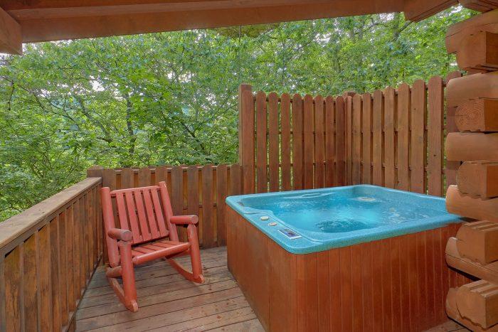 Private Hat Tub 1 Bedroom Cabin Sleeps 6 - Jasmine's Retreat