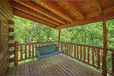 Cabin with Porch Swing in the Smokies