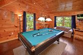 Cabin with a Pool Table in the Smoky Mountains