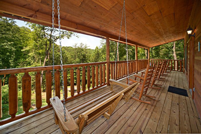 Deck with Relaxing Swing and Rocking Chairs - Just Relax