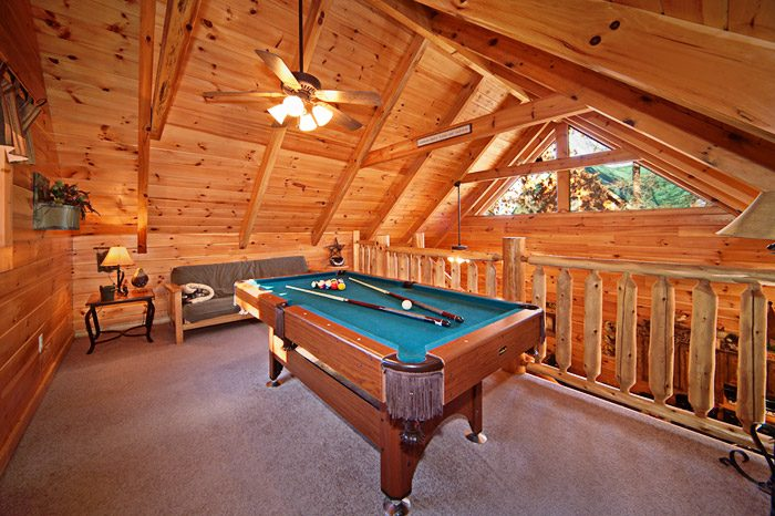 Game Room with Pool Table in the Loft - Kisses & Wishes