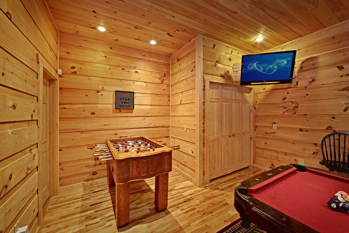 Game Room with Foosball Table - Laurel Cove