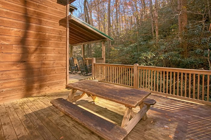 Gatlinburg Cabin with Picnic Table on Deck - Laurel Creek