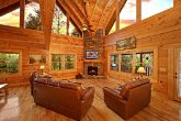 Cabin with TV In Living Room
