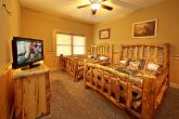 Cabin with Two Full Beds in Bedroom