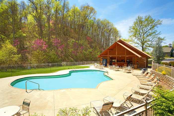 Alpine mountain village cabin rental pigeon forge Cottages with swimming pools to rent