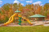 Cabin with large playground and