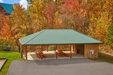 Cabin with large picnic pavillion