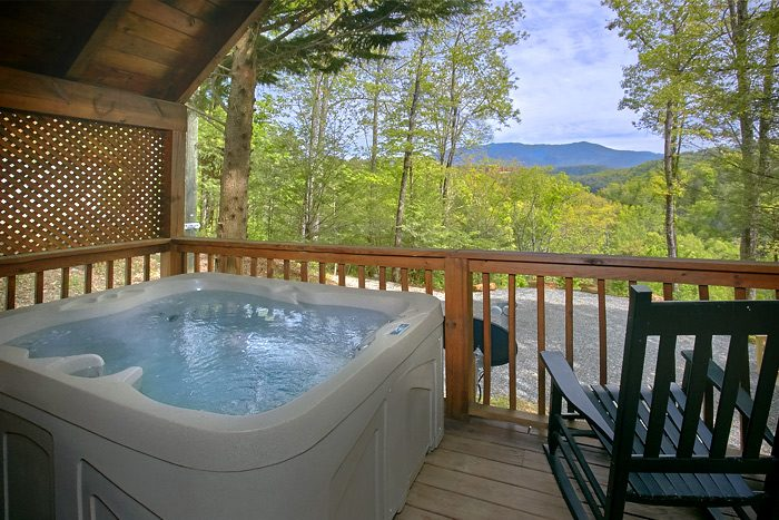 Luxury Cabin with Mountain View and Hot Tub - Lucky to be with View
