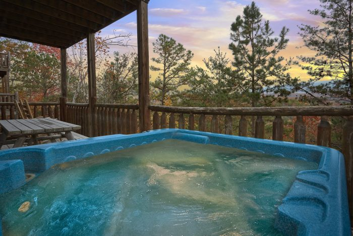 Hot Tub with Views On Back Deck - Moonglow