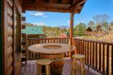 Cabin overlooking resort pool