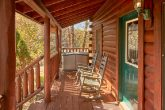 5 bedroom cabin with 3 decks and rocking chairs