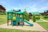 Cabin with resort playground