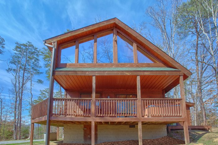 3 Bedroom Cabin 2 Story with Large Deck - Morning Mist