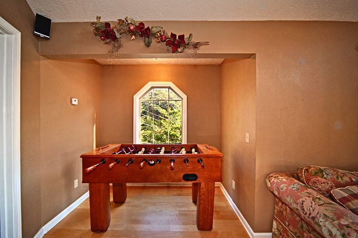 Game Room with Foosball Table - Mountain Charm