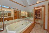 Oversize Jacuzzi Tub in Private Bath in Cabin