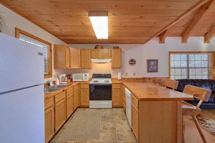 1 Bedroom 2 Bath Cabin Sleeps 6 Full Kitchen - Mountain Hideaway