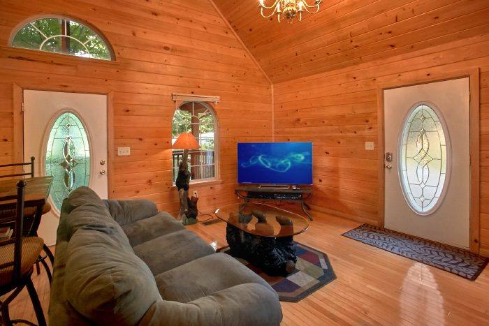 Honeymoon Cabin with Spacious Living Room and TV - Mountain Laurel