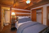 Queen Bedroom with Private Bath in Rustic Cabin