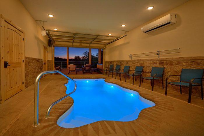 Mountain View Pool Lodge Cabin Rental Photo