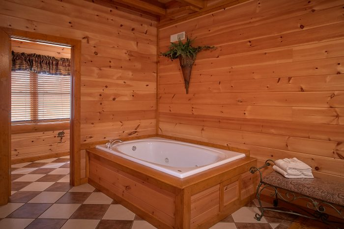 8 Bedroom Cabin Sleeps 24 with Jacuzzi Tubs - Grand Theater Lodge