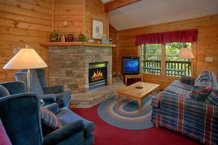 2 Bedroom Cabin with Stone Fireplace - Mtn Memories- Kimbles