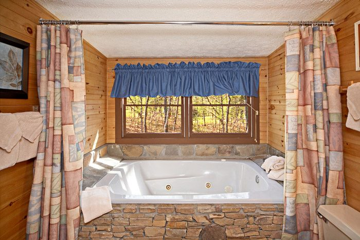 Cabin with Spacious Jacuzzi Tub - Natures Heart
