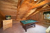 Pool Table in Queen Bedroom of Cabin