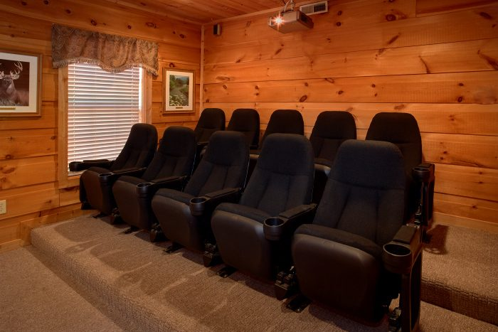 Theater Room in Pigeon Forge Cabin - Natures Majesty