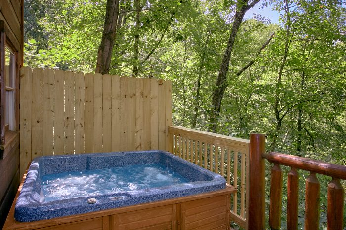 Private 1 Bedroom Cabin with Secluded Hot Tub - Naughty Pines