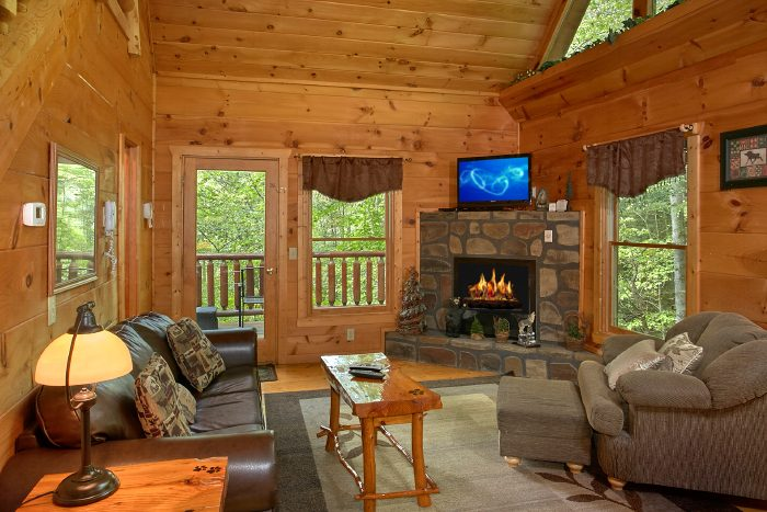 1 Bedroom Cabin with Fireplace and Sleeper Sofa - Naughty Pines