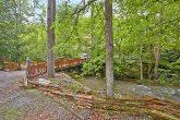 Cabin beside mountain creek