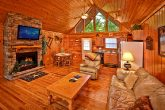 Living Room with Flat Screen TV in Cabin