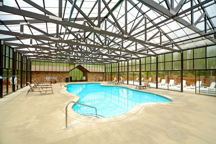 Resort Cabin Rental With Indoor Pool Access Cabin In Sevierville Cabins Usa