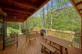 Rustic Cabin with porch swing and picnic table