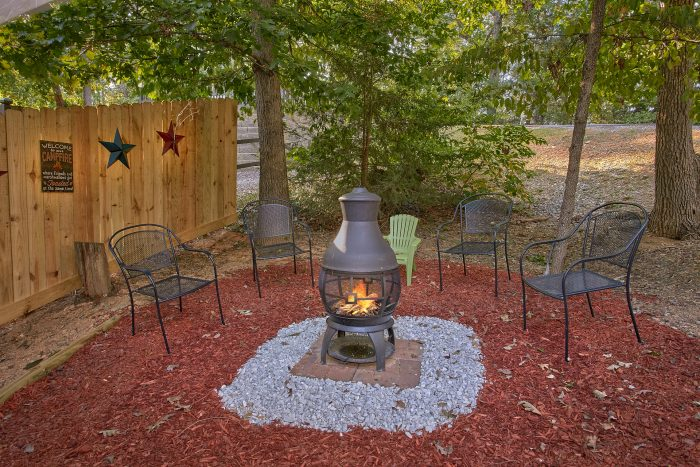 Cabin in the Smoky Mountains with a Fire Pit - Our Happy Place