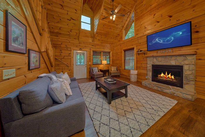 Cabin with Living Room - Paws A While