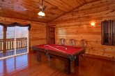 6 Bedroom Cabin with Pool Table and Game Room