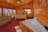 Luxury Cabin with Private Jacuzzi Tub in Bedroom
