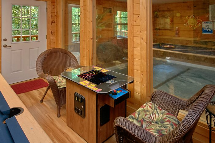 Cabin with Arcade Game and Private, Indoor Pool - Pool N Around