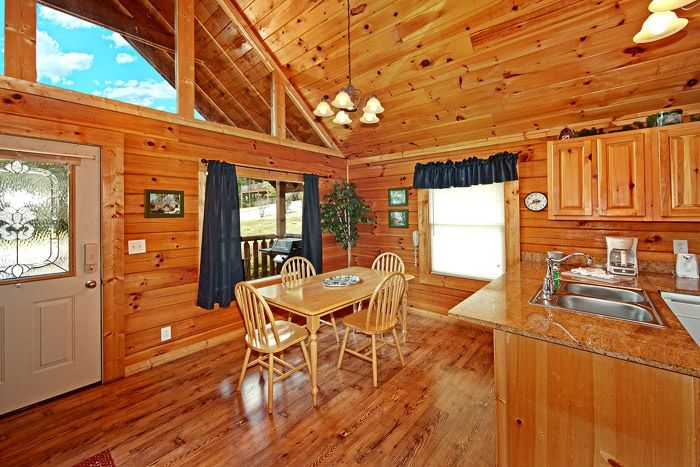 Perfect Dining Room Table for Two Bedroom Cabin - Poolside Cabin