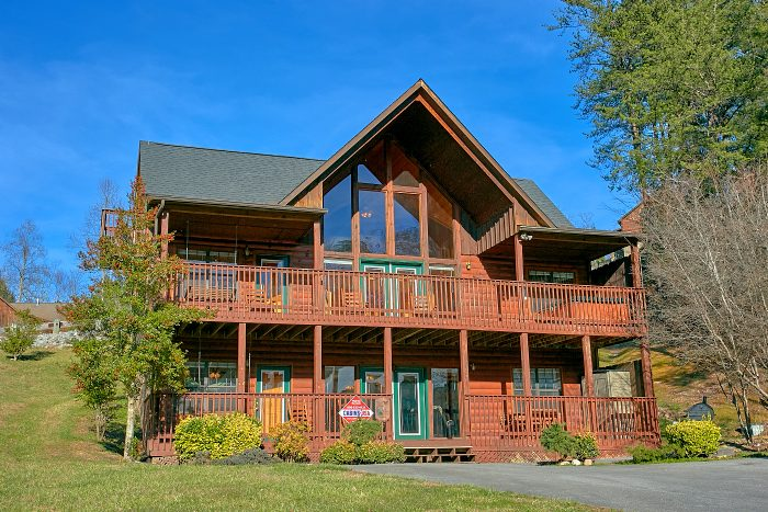 Poolside Lodge Cabin Rental Photo