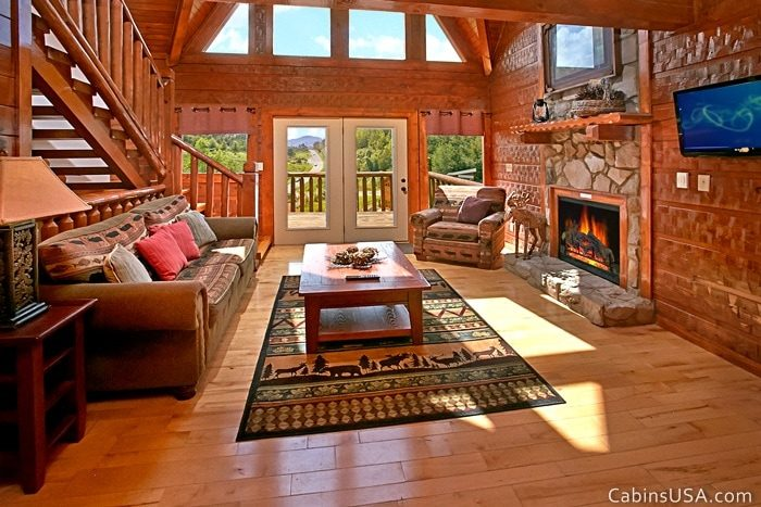 Living Room with Dome Windows - R & R