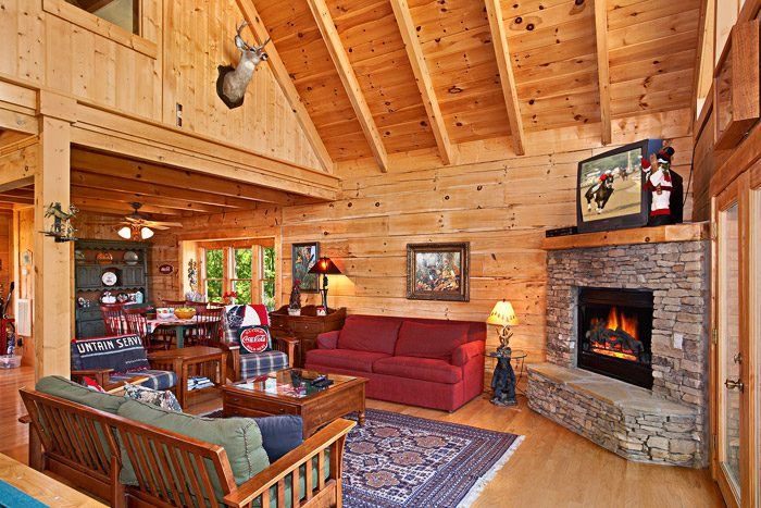 Cozy Living Room with Fireplace - Rare Breed