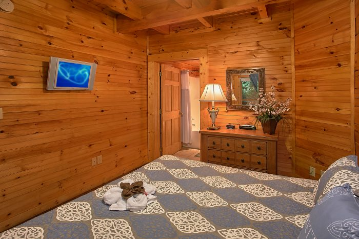 2 Bedroom Cabin with King Bed and TV - Reclusive Moose