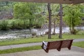 Porch Swing at 2 Bedroom Chalet on the River