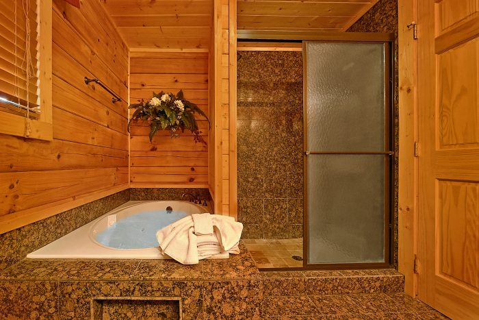 Premium Cabin with Jacuzzi Tub & Walk-in Shower - Rocky Top Lodge
